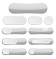 gray interface buttons web icons vector image vector image