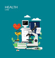 health care flat style design vector image