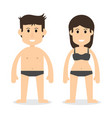 human body man and woman vector image