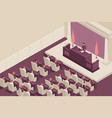 isometric parliamentary speech composition vector image vector image