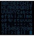 led light alphabet vector image