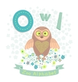 Letter O - Owl vector image vector image