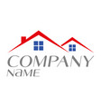 logo house for sale rental or home ownership vector image vector image