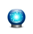 magic blue crystal ball with lights vector image