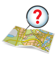 Map booklet with question mark vector image