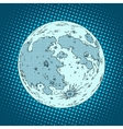 moon satellite planet vector image vector image