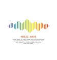 music wave player logo colorful equalizer element vector image vector image