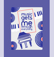 musical instruments badges poster banner vector image