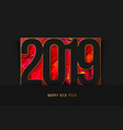 new year 2019 background gold frame vector image vector image