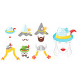 oktoberfest elements or carnival masks vector image