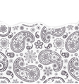 paisley pattern with torn paper vector image vector image