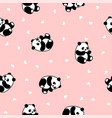 panda seamless pattern vector image vector image