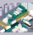 paper production composition vector image vector image