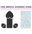 penis love tablets icon with 1300 medical business vector image vector image