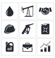 Petroleum industry icon set vector image vector image