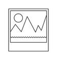 picture icon in monochrome silhouette vector image vector image