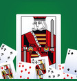 poker leisure cards vector image