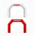 realistic detailed 3d square inflatable archway vector image vector image