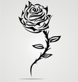 Rose Flower Tattoo Design vector image vector image