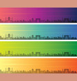 samarkand multiple color gradient skyline banner vector image vector image