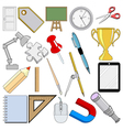 school related objects vector image vector image