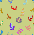 seamless background with shoes vector image