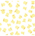 seamless pattern with popcorn on a white vector image
