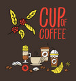 set of flat line colored flat coffee icons vector image vector image