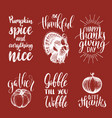 set of lettering and for vector image vector image