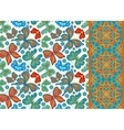 set seamless floral pattern pattern vector image vector image