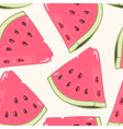 Slices of watermelon seamless pattern vector image vector image