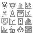 stock market exchange and finance trading icons vector image vector image