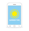 summer time - sun vector image vector image