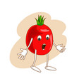 surprised emotional vegetable in cartoon style vector image