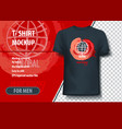 t-shirt mock-up template with abstract vector image