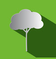 tree - flat design icon vector image vector image