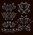 vintage frames and scroll elements1 vector image vector image