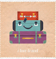 Vintage Web design I love travel banner Vintage vector image