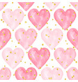 wedding aquarelle pink seamless pattern with vector image vector image