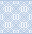 white and blue damask vector image vector image