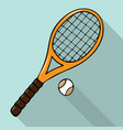 with hand-drawn tennis racket vector image