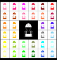 worker sign felt-pen 33 colorful icons at vector image vector image