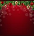 xmas new year postcard vector image vector image
