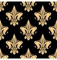 Yellow royal fleur-de-lis seamless pattern vector image vector image