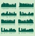 city lanscape set vector image