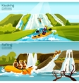 Rafting Canoeing Kayaking Compositions vector image