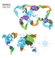 Abstract color map of World vector image