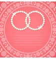 Ornamental background for wedding invitation vector image