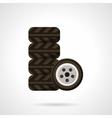 Car service flat color design icon vector image