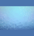 abstract polygonal blue background triangular vector image vector image